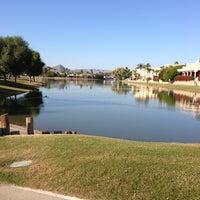 Photo taken at Scottsdale Greenbelt by Lisa G. on 12/24/2012