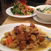 Photo taken at Blossom Vegan Restaurant by Debbie L. on 2/18/2014