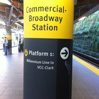 Photo taken at Commercial - Broadway SkyTrain Station by Patrick D. on 10/5/2012