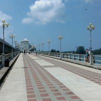 Photo taken at Sarasin Bridge by Mighty B. on 3/10/2013