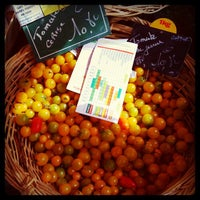 Photo taken at Marché de Raspail by Orsola C. on 9/24/2012