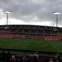 Photo taken at Waikato Stadium by Jason D. on 10/13/2012