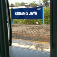 Photo taken at KTM Line - Subang Jaya Station (KD09) by Ellina M. on 10/14/2012