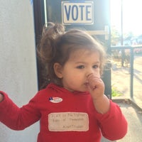 Photo taken at Polling Places- David Lubin Elementary by Justin H. on 11/4/2014