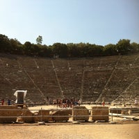 Photo taken at Epidaurus Ancient Theatre by Max S. on 7/21/2013