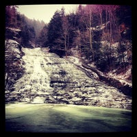 Photo taken at Buttermilk Falls State Park by Pete B. on 12/26/2012