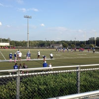 Photo taken at South Forsyth High School Football Stadium by Kim H. on 10/6/2012