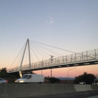Photo taken at Mary Avenue Bicycle Footbridge by Tiffany T. on 1/28/2017