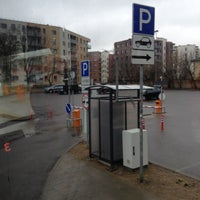 Photo taken at Lux Express bus stop, near SC Panorama by Анастасия В. on 4/2/2018