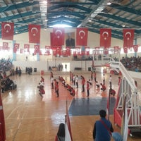 Photo taken at Korkuteli Kapalı Spor Salonu by Semra T. on 4/23/2018