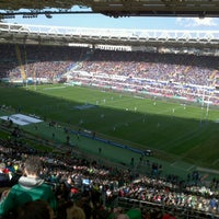 Photo taken at Stadio Olimpico by Viviana A. on 3/16/2013