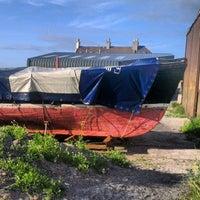 Photo taken at Port Seton Harbour by Stephen R. on 7/9/2013