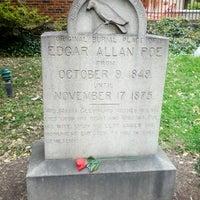 Photo taken at Grave of Edgar Allan Poe by Ryan S. on 11/3/2012
