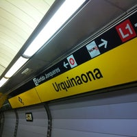 Photo taken at METRO Urquinaona by Miriam M. on 12/9/2012