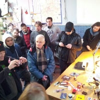 Photo taken at Hackerspace Brussels @hsbxl by Ramon S. on 12/2/2012