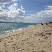 Photo taken at Plaka Beach by Xanthippie P. on 6/13/2013