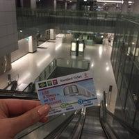 Photo taken at Marina Bay MRT Interchange (NS27/CE2) by Catherine S. on 12/19/2016