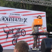 Photo taken at Red Bull X Fighters by Darjushka P. on 6/12/2013