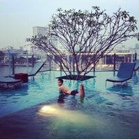 Photo taken at Millennium Hilton Bangkok by Barbara J. on 4/27/2013