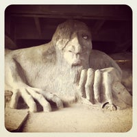 Photo taken at The Fremont Troll by Linda T. on 4/27/2013