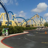 Photo taken at Six Flags Fiesta Texas by Claudia A. on 7/21/2013