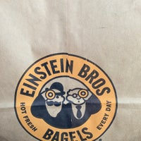 Photo taken at Einstein Bros Bagels by @ngie on 3/19/2013