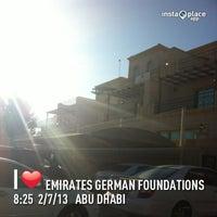 Photo taken at Emirates German Foundation @ Bain Al Jesrain by Christian B. on 2/24/2013