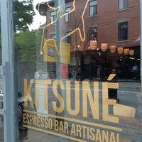 Photo taken at Kitsuné Espresso Bar Artisanal by Alex N. on 6/7/2013