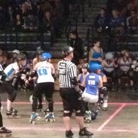 Photo taken at Roller Derby by Mike C. on 10/13/2012