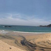 Photo taken at Playa Mazunte by Taniis S. on 3/28/2018