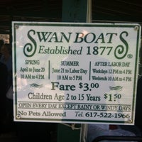 Photo taken at The Swan Boats by *pauline* on 4/18/2013