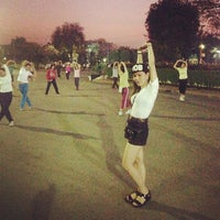 Photo taken at Lumphini Park by Jacquline S. on 1/30/2013