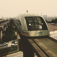 Photo taken at Maglev Train Longyang Road Station by Sergey 136th on 3/18/2013