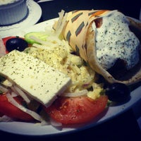 Photo taken at Marathon Souvlaki Restaurant by Vi H. on 1/5/2013