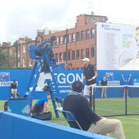 Photo taken at Queen's Club by Philippa D. on 6/16/2016