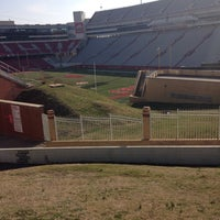 Photo taken at Donald W Reynolds Razorback Stadium by Ashley A. on 3/29/2014