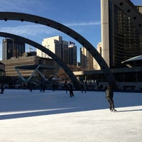 Photo taken at Nathan Phillips Square by Katya R. on 12/13/2012