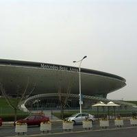 Photo taken at 梅赛德斯奔驰文化中心 Mercedes-Benz Arena by Nisa J. on 3/16/2013