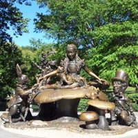 Photo taken at Alice in Wonderland Statue by Agnes T. on 10/11/2012