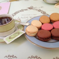 Photo taken at Ladurée by Burcu Y. on 8/10/2013