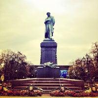 Photo taken at Памятник А. С. Пушкину by Anton Z. on 10/5/2012