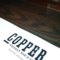 Photo taken at Copper Whiskey Bar & Grill by Joe S. on 4/8/2013
