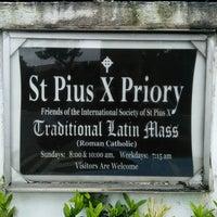 Photo taken at Saint Pius X Priory by Benedict James W. on 12/1/2013