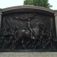 Photo taken at Robert Gould Shaw Memorial by Juan B. on 8/13/2016