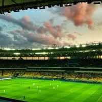 Photo taken at Olimpiyskiy Stadium by Max Z. on 6/30/2013
