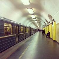Photo taken at metro Rizhskaya by Daria R. on 11/10/2012