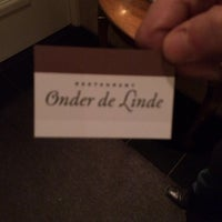 Photo taken at Restaurant Onder De Linde by Erik V. on 12/19/2013