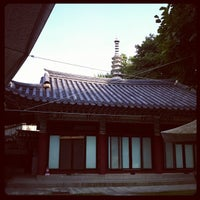 Photo taken at 보문사 (普門寺) by Ji Ho P. on 9/30/2012