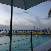 Photo taken at Pool at The Standard Spa, Miami Beach by Adam B. on 1/13/2013