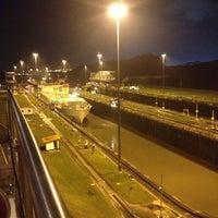 Photo taken at Esclusas de Miraflores by Saul B. on 11/28/2012